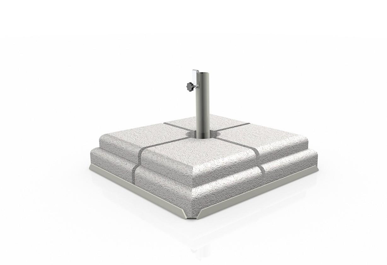 Base in ferro con set di 4 pesi in cemento Poggesi